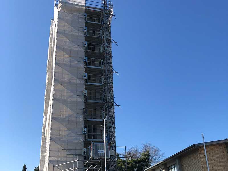 KOX Bau Ratingen Kirchturm Sanierung